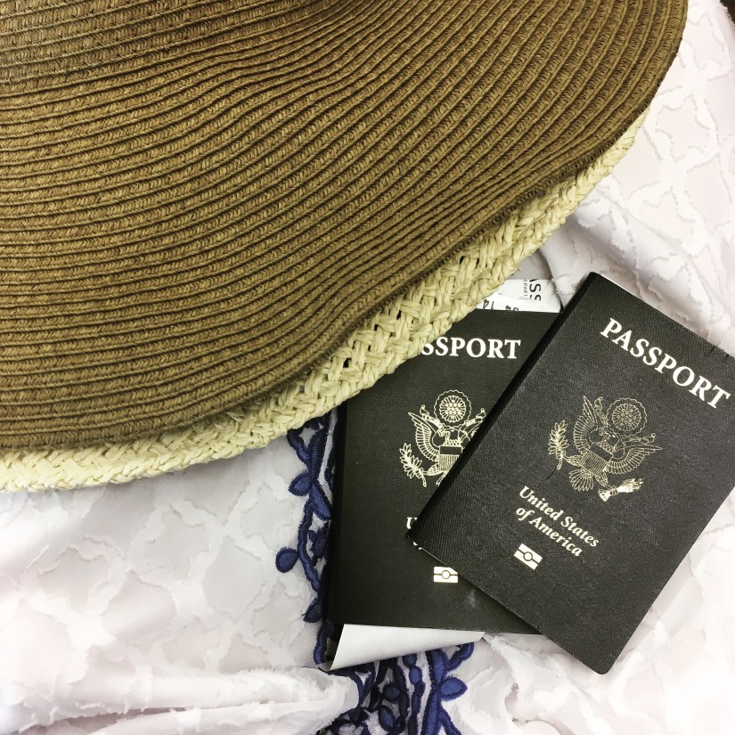 Passports with hat