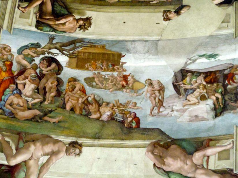 Sistine Chapel ceiling the flood