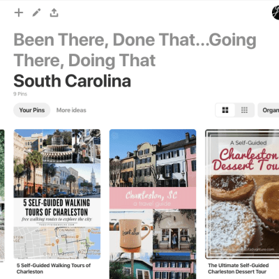 2019 Charleston Road Trip Planning: Making the List