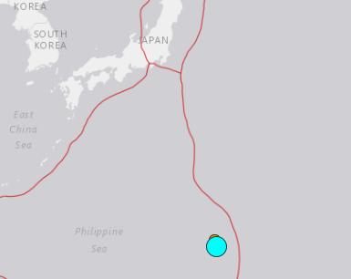 地震予知情報 マリアナM7.6