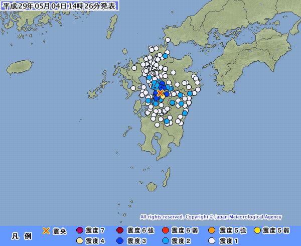 地震予知 予測 熊本震度4 後続注意