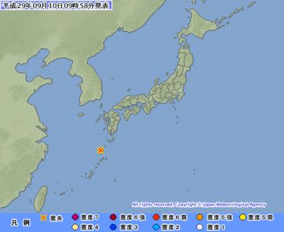 地震予知 国内M6警戒のこり2日間 中米との反射について