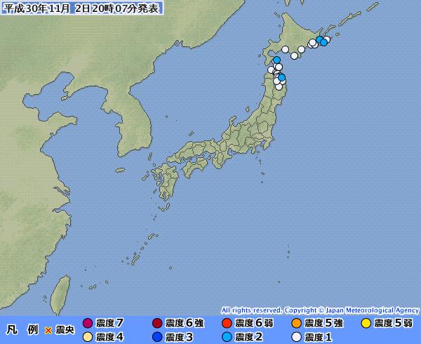 地震予知 オホーツクM6.1 紀伊水道M5.4 国内各地のお知らせです