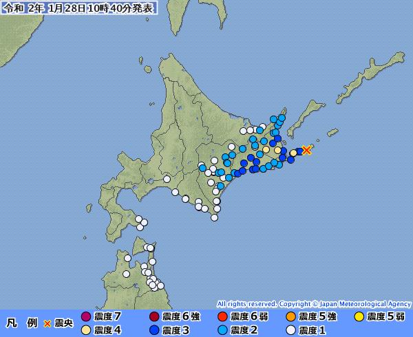 地震予知 国内M6~M7警戒のこり5日間