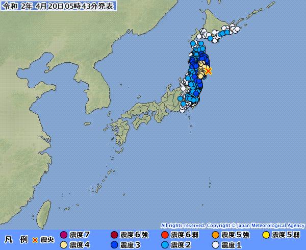 地震予知 国内M6気配 M5~M6注意のこり2日間