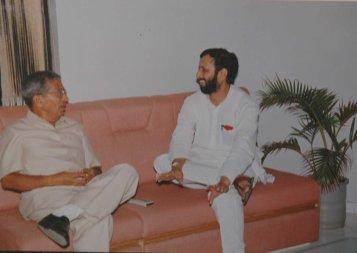 With Prakash Paranjape