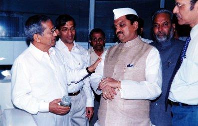With former CM of Maharashtra Viilasrao Deshmukh