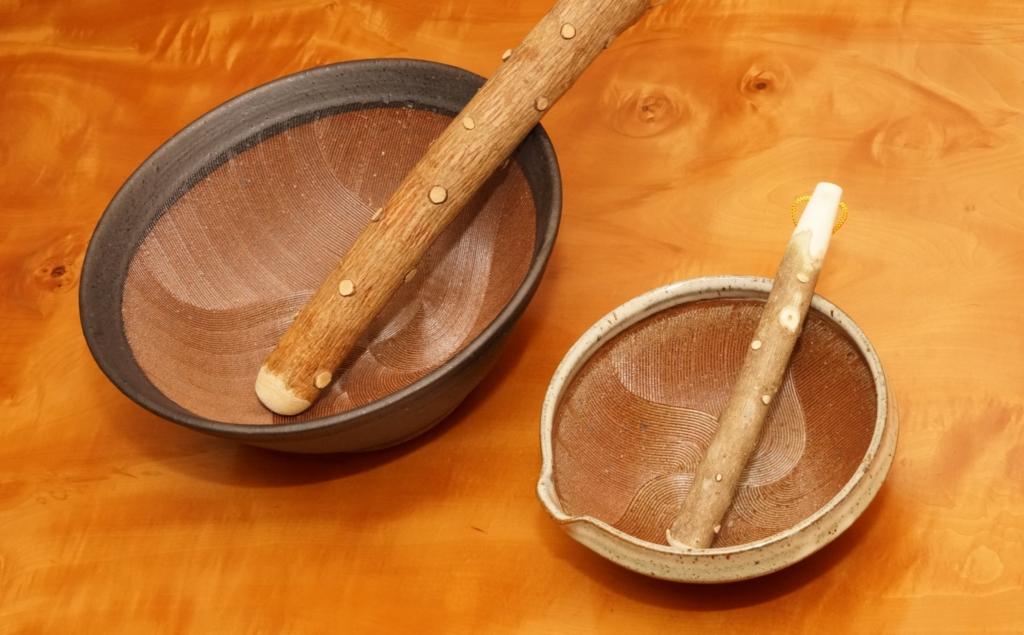 すり鉢はサイズを揃えると便利
