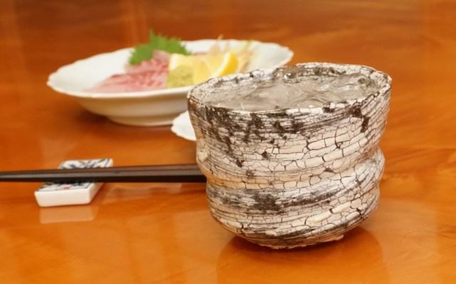 イサキの刺身と焼酎