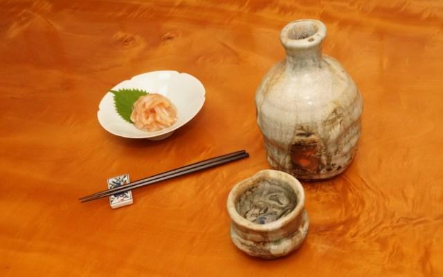 イカ明太を酒の肴に
