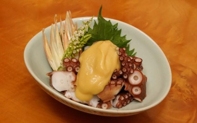 タコブツの辛子酢味噌
