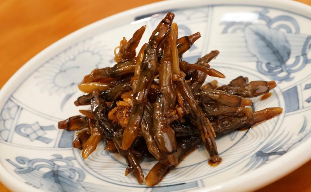 珍味のマテ貝の佃煮