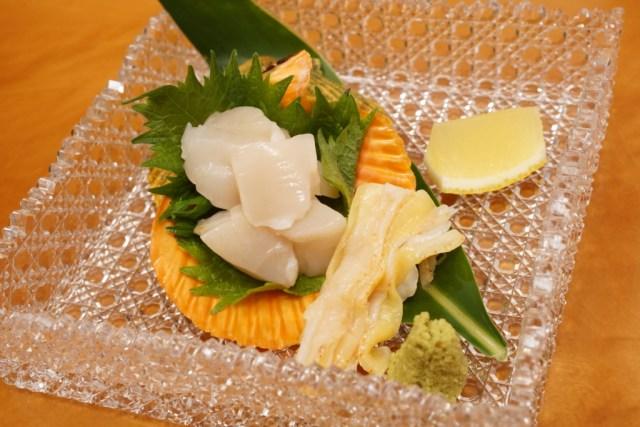 ホタテ貝より美味しいヒオウギ貝の刺身