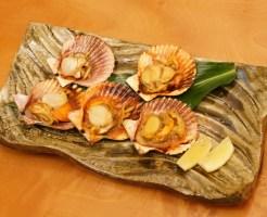 ヒオウギ貝のバター醤油焼き