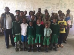 Our new primary students and Jitegemee staff.