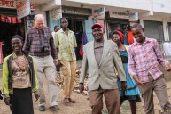 David joins Alex Mutiso, Founding Teacher, and some students on a tour of our vocational program graduates' businesses in Machakos.