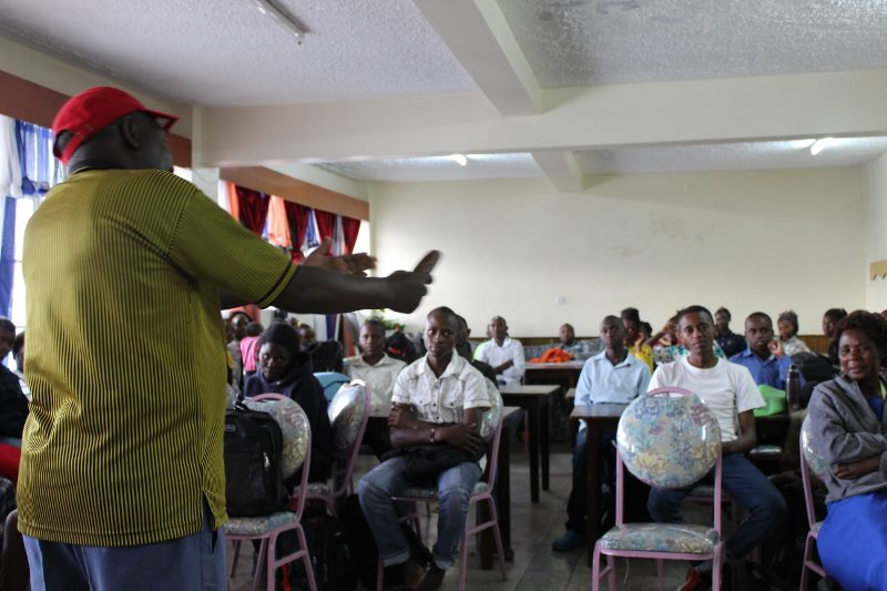 Mwalimu (Teacher) Alex provides his class with information about Lake Nakuru.