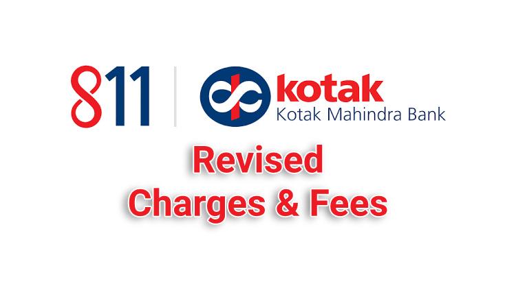 kotak 811 debit card charges