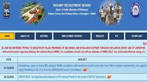 railway recruitment board admit card