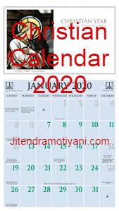 Christian Calendar 2020