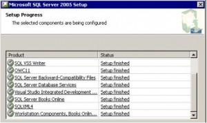 SQL Server 2005 Setup Progress