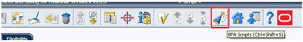 Run BPA Script from Toolbar in Oracle Utilities / ORMB / CC&B
