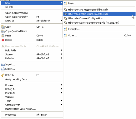 Hibernate Configuration File (cfg.xml)