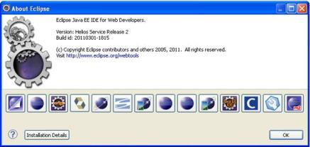 Eclipse Installation details