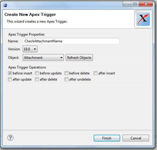 Before insert Trigger on Attachment using eclipse in Salesforce