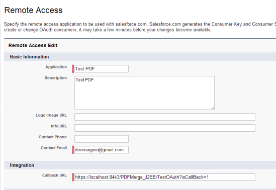 Create Remote Access in Salesforce.com for OAuth 2