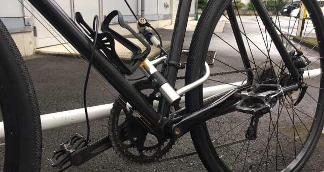 自転車を守るために、駐車時は必ず地球ロックをしよう!