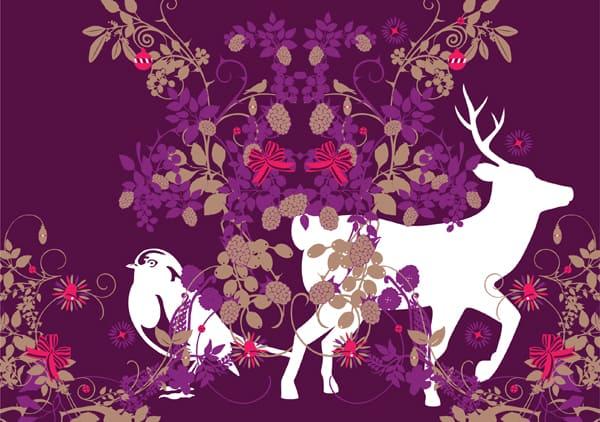 Seasonal Xmas Card Design Illustration Jitesh Patel