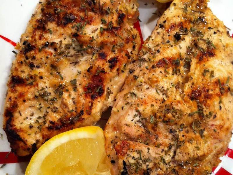 Greek Garlic BBQ Chicken – It's About Thyme
