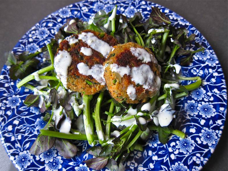 Salmon Watercress Latkes – Martha Stewart Would Approve