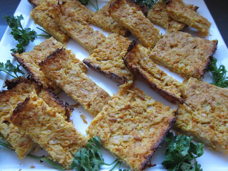 Portions of Potato Kugel