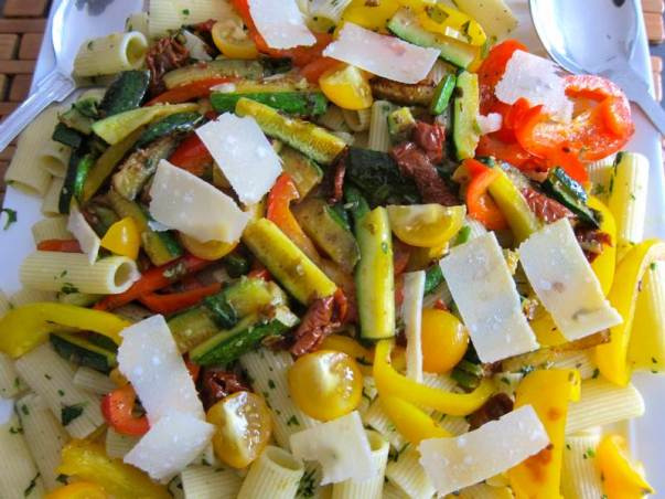 Rigatoni Primavera, vegetarian pasta, vegetable pasta, vegetarian recipe, recipe, recipes, easy recipe, quick meal, healthy dinner, pasta recipe, food