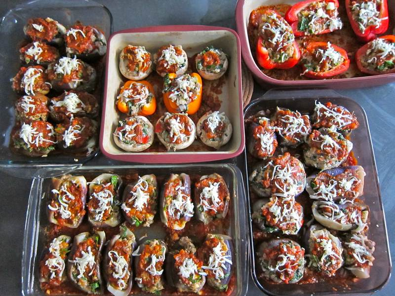 Sicilian Eggplant - Stuffed with Meat or Vegetables