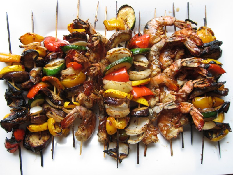 Shrimp and Veggie Skewers - Pulo Philippine Cuisine