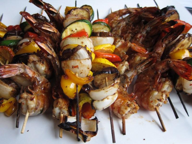 Shrimp and Veggie Skewers - Pulo Philippine Cuisine