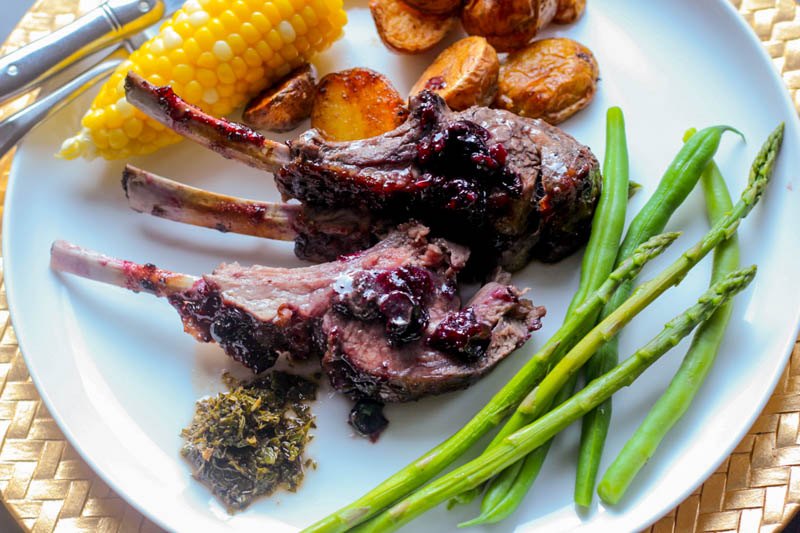 Blackcurrant Rack of Lamb - Homemade Mint Sauce (1)