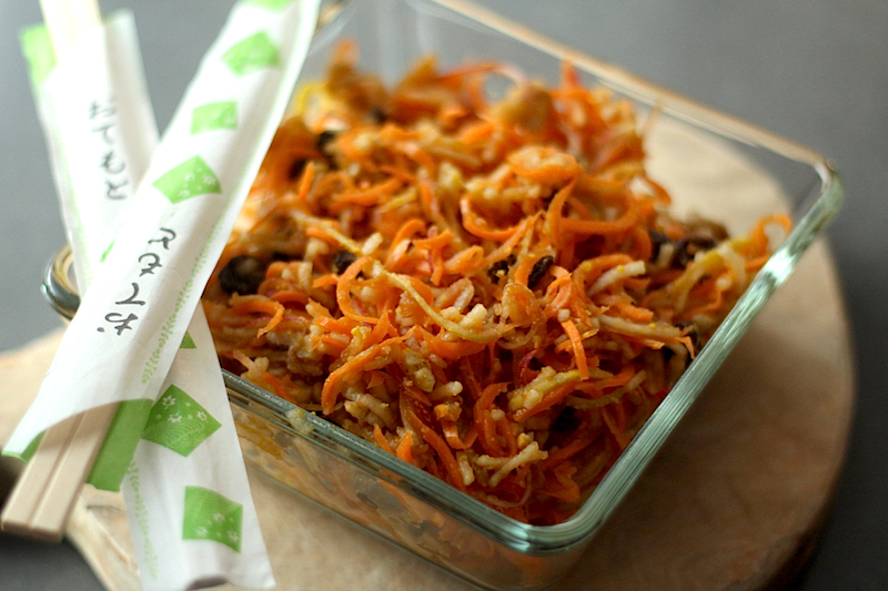 Glazed Carrot Apple Salad – Spiral Slaw