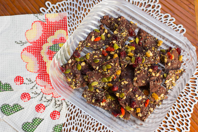 Bittersweet Chocolate Granola Bark