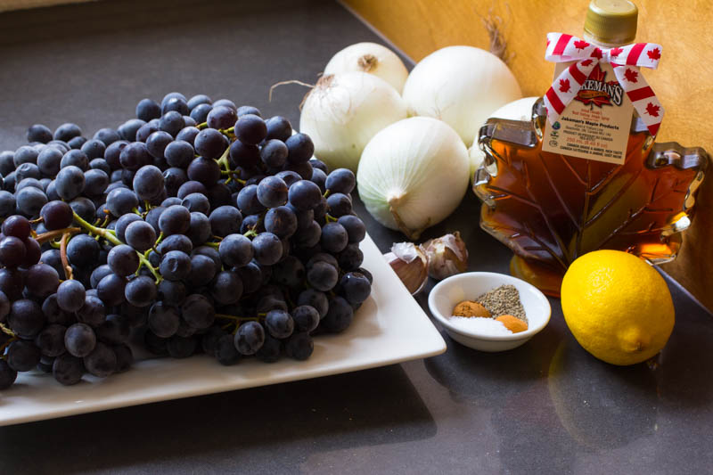 Roasted Grape Onion Chutney