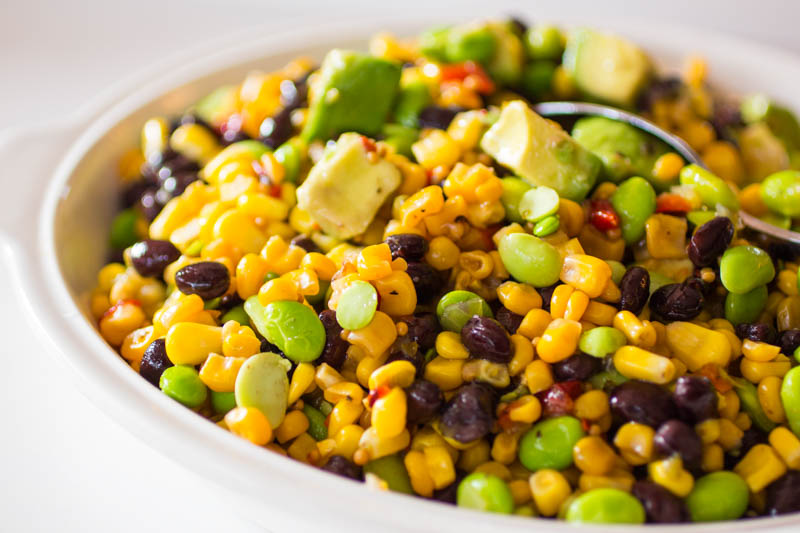 Avocado Black Bean Edamame Corn Salad - Dilemma Solver