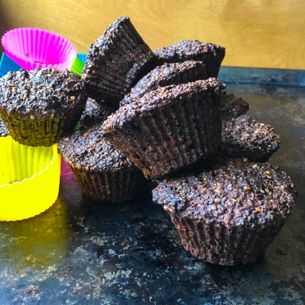 Dr. Lindsey Berkson's Seed Muffins, seed muffins, breakfast muffins, healthy muffins, gluten free muffins, tasty muffins, high-fiber muffins, breakfast recipe, make ahead breakfast recipe, on the go breakfast recipe, grab and go breakfast recipe, easy snack recipe, snack muffins, healthy snack