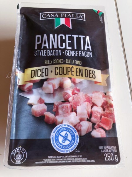 Pancetta sold at Costco