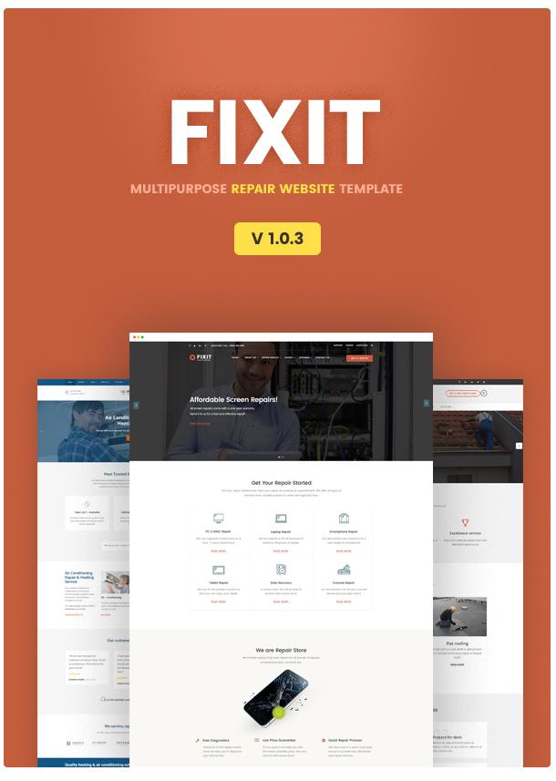 best website template repair