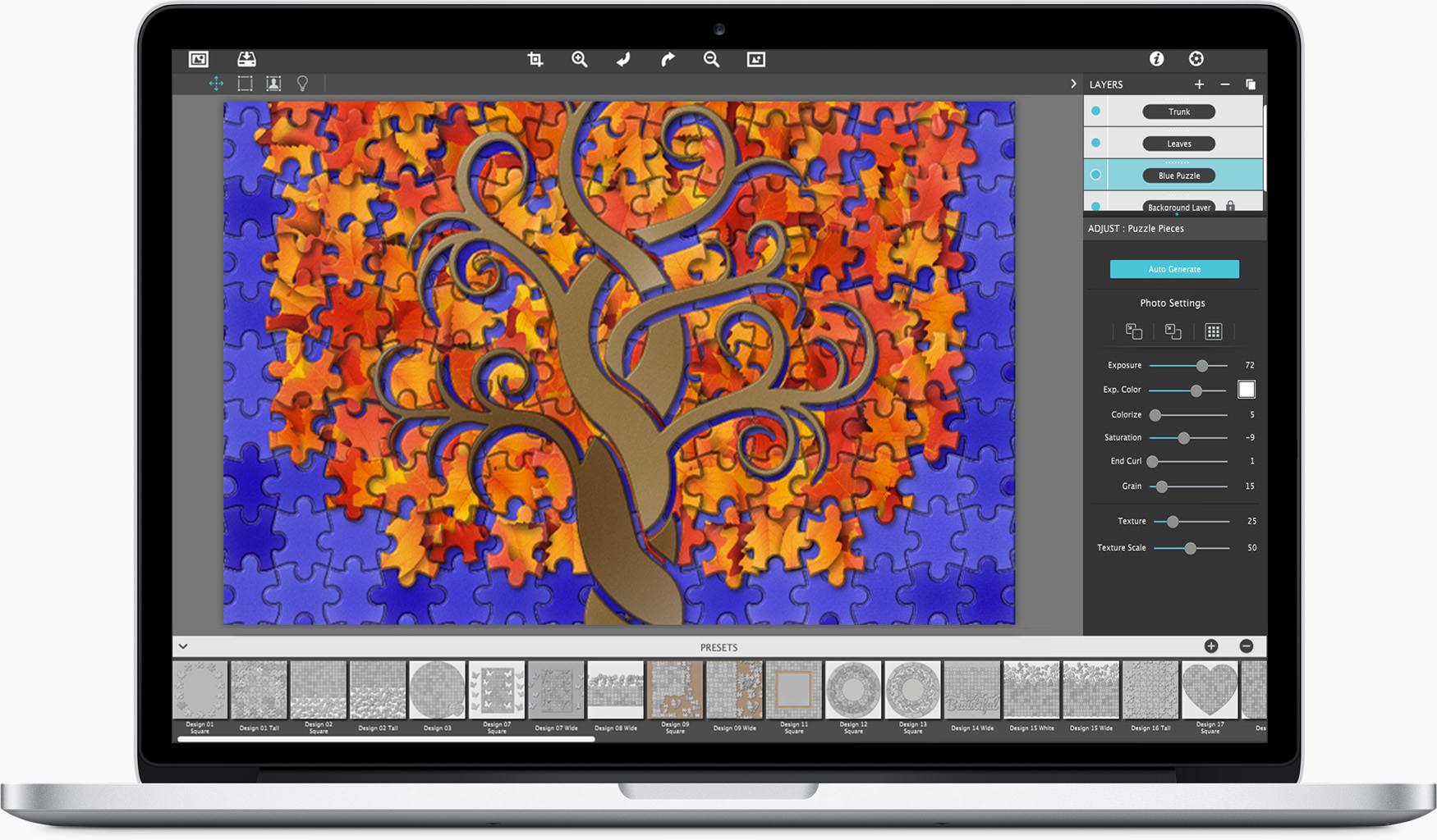 JixiPix PuzziPix Pro 1.0.14 Mac 破解版 专业图片拼图工具