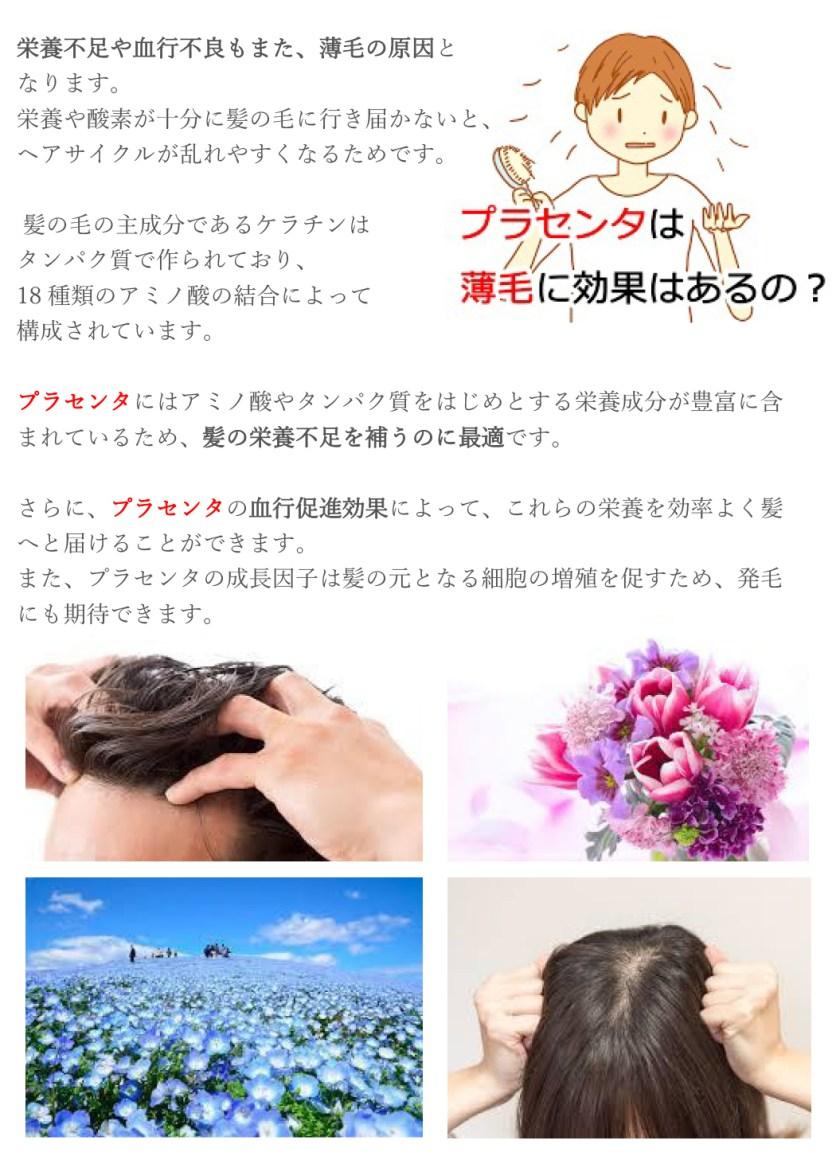 薄毛・抜け毛に効くプラセンタ療法