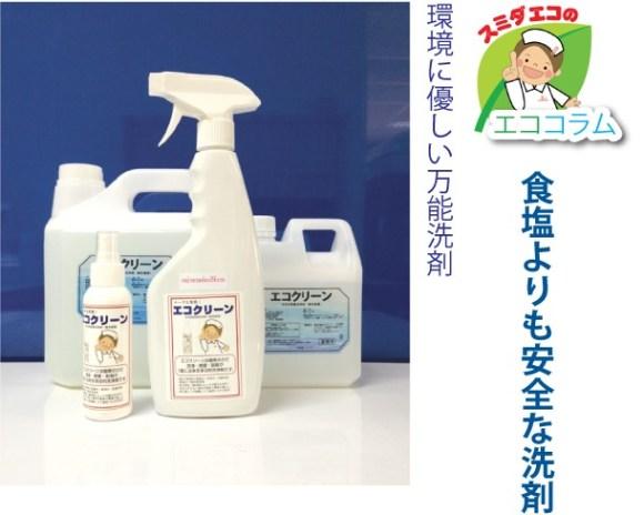 食塩よりも安全な洗剤スミダエコ(タイランド)の「ECOクリーン」